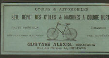 45 ORLEANS CYCLES MACHINES A COUDRE HURTU GUSTAVE ALEXIS PUBLICITE 1904