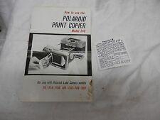 Polaroid land cameras sales brochure print copier model 240