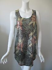 Urban Outfitters Silence Noise Green Sparkling Sequins Tunic Tank Top M (6)
