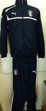 ITALY FOOTBALL NAVY TRACKSUIT BY PUMA ADULTS SIZE SMALL BRAND NEW WITH TAGS
