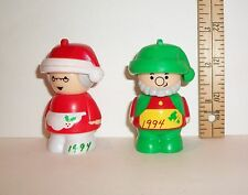Wal-Mart SEASONS GREETING SHELCORE SANTA & MRS CLAUS FIGURINES TOYS 1993 1994