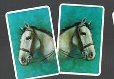Playing Swap Cards 2 VINT 1970'S BLANK BACKS  HORSE  HEAD SUPER IMAGE #50