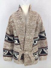 Vintage Women's Southwestern Native Print Wool Shawl Collar Sweater Sz S/M