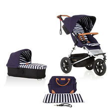 Mountain Buggy Jungle Luxury Stroller + Bassinet Nautical Bundle Free Shipping!!