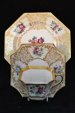 Rare Antique Rosenthal Tea Trio Handpainted. Excellent Condition