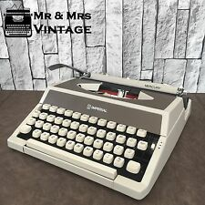 Perfect BOXED Imperial Mercury beige/brown Typewriter WORKING black red ribbon