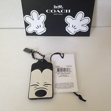 NWT Disney x Coach Squinting Mickey Mouse Hangtag Key Charm