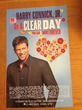 ON A CLEAR DAY YOU CAN SEE .. Harry Connick, Jr Broadway Window Card Poster MINT