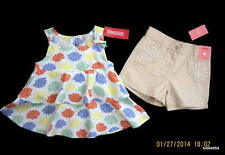 Gymboree Mermaid Magic Seashell Layered Top Shirt Tan Sequin Shorts Set 5 5T NWT
