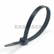 1000 x (300mm x 4.8mm) CABLE TIES zip tie wraps - BLACK