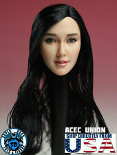 1/6 Asian Female Head Sculpt Black Hair PRE-ORDER For Hot Toys Phicen U.S.A.
