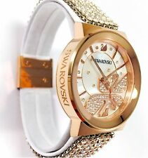 Swarovski Watch Piazza Lady Mesh Rose Gold 2 Swans ref 1188483 Swiss Made Quartz