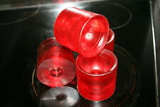 IDI Power Paw Vintage Skateboard Wheels 1970's NOS Clear Red 62mm 80a