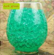 NEW 600pcs Green Crystal Soil Gel Jelly Ball Water Pearls Wedding Home Decor ZS1