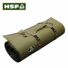 HSF RIFLE GUN MAT PADDED TARGET SHOOTING GREEN CANVAS STRAP NON SLIP WATER PROOF