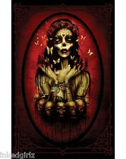 "Too Fast Bound 11"" x 17"" Poster Print Skull Witchcraft Spell VooDoo Undead Punk"