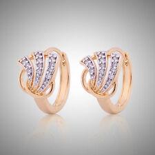Vogue Swarovski crystal Eternity antique 18K Gold Platinum filled earring