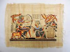 Vintage Karnak Gallery Egyptian Painting on Papyrus Duck Hunting