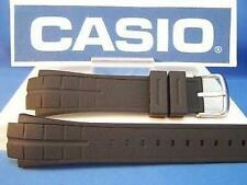 Casio Watch Band MTD-1057, MDV-501 Black Rubber Strap Steel buckle w/Attch Pins