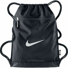 NIKE Men's Nike Team Training Bag Gym Sack BA4694-001 BLACK/BLACK/WHITE