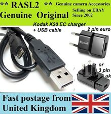 Genuine Kodak K20 EC Camera Charger USB C195 M522 M530 M531 M575 M580 M583 M590