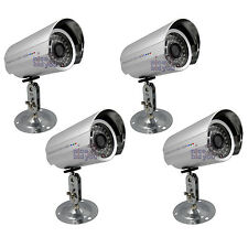 "Set of 4x NEW 36 IR LED Sony 1/3"" 3.6mm CCD Security CCTV Colour Bullet Camera"