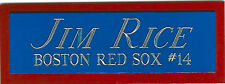 JIM RICE BOSTON RED SOX NAMEPLATE AUTOGRAPHED SIGNED Baseball Display CUBE CASE