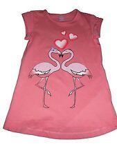 NEU Dopodopo tolles Kleid Gr. 98 orange-rosa mit Flamingo Motiv !!