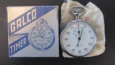 Vintage NOS GALCO Stopwatch Timer Swiss in Box