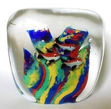 Peces de Acuario pisapapeles de bloque de vidrio