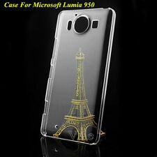 Clear Crystal Glossy Transparent Hard Plastic Case Cover For Microsoft Lumia 950