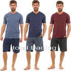 Mens Pyjamas Set Short Sleeve Top Pants Summer Pjs SUMMER Loungewear HT331