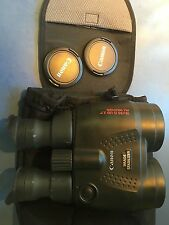 Nice Canon 18X50 Image Stabilizer/Stabilization All Weather Binoculars w/ Acc's.