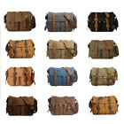 Men's Vintage Canvas Leather Military Shoulder Messenger School Bag Satchel Pack