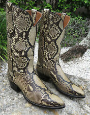 Exotic AMMONS PYTHON FULL UPPERS/LOWERS Cowboy Western Boots 10 1/2D USA