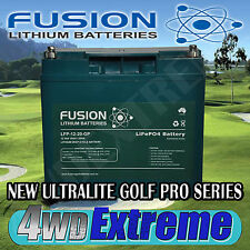 12V FUSION 15AH LITHIUM ION ULTRALITE GOLF PRO  BATTERY  DEEP CYCLE LFP-12-20-GP