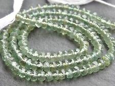 "HAND FACETED GREEN APATITE RONDELLES, 4mm / 4.5mm, 13.5"", 130 beads"
