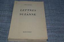 LETTRES A SUZANNE par Léon Savary - Marguerat 1950 (B4)