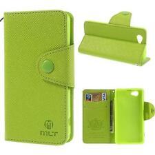 Brief Tasche Schutz Hülle Case Cover für Sony Xperia Z1 Compact MINI GRÜN LO6