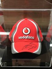 2009 FORMULA 1 WORLD CHAMPION JENSON BUTTON SIGNED CAP IN DISPLAY CASE