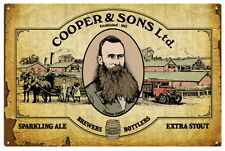 COOPERS BEER BREWERS BOTTLERS  VINTAGE  TIN SIGN