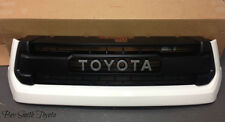 NEW OEM TOYOTA TUNDRA 2014 AND UP TRD PRO GRILLE(WHITE) PAINT CODE 040