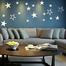 Mirror Stars Creative Art Wall Stickers Hollow Out Livingroom Home Decor