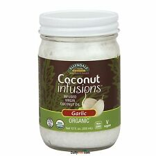 NOW Food-Organic Coconut Infusions™ -12 oz.,Garlic, Free Shipping, Made in USA
