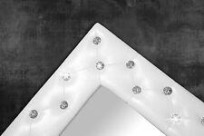 Bianco con specchio da parete pulsante strass 80 x 60 cm Shabby Chic SPECCHIERA