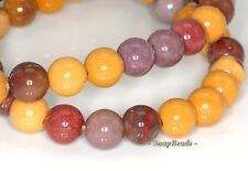 DECADENCE MOOKIATE GEMSTONE RED YELLOW ROUND 8MM LOOSE BEADS 15.5""