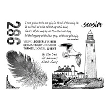 Crafty Individuals CALL OF THE SEA Unmounted Red Rubber Stamps