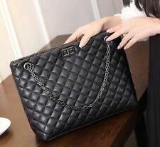 QK07 New Womens Genuine Leather Quilted Shoulder Messenger handbag Chain Bag