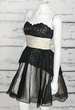 BETSEY JOHNSON~FLORAL LACE~EVENING COCKTAIL PARTY~STRAPLESS BACK-BOW DRESS~4