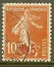 "FRANCE TIMBRE STAMP N° 146 "" CROIX ROUGE , SEMEUSE FOND PLEIN"" OBLITERE TB"